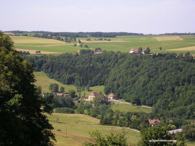 Le Val d'Héry vu de Cercennes.