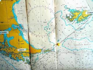 Carte marine des Fakland.