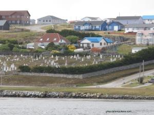 Vue de Port Stanley situé sur île Est des Fakland.