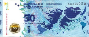 Billet 50 pesos Argentin.