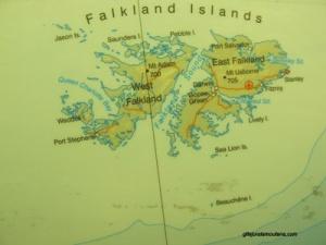 Carte des Falkland