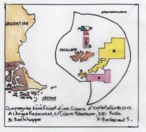 Les Falkland, compagnies titulaires de licences 2012.