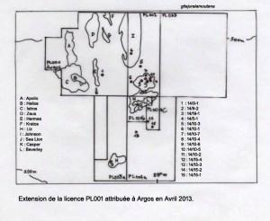 Les Falkland, licence PL 001 Argos extension en 2013.