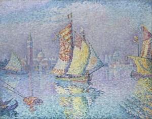 P.Signac, Venise la voile jaune, 1904, musée de Besançon.