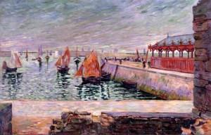 P.Signac, Port-en-Bessin, la halle aux poissons, 1884.