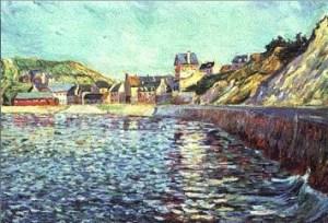 P.Signac,Port-en-Bessin, 1884.