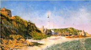 P.Signac, Port-en-Bessin, 14 Juillet 1883.