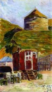 P.Signac, Port-en-Bessin, La vieille tour, 1884.