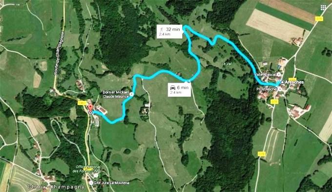 Route du Val de Cercennes.
