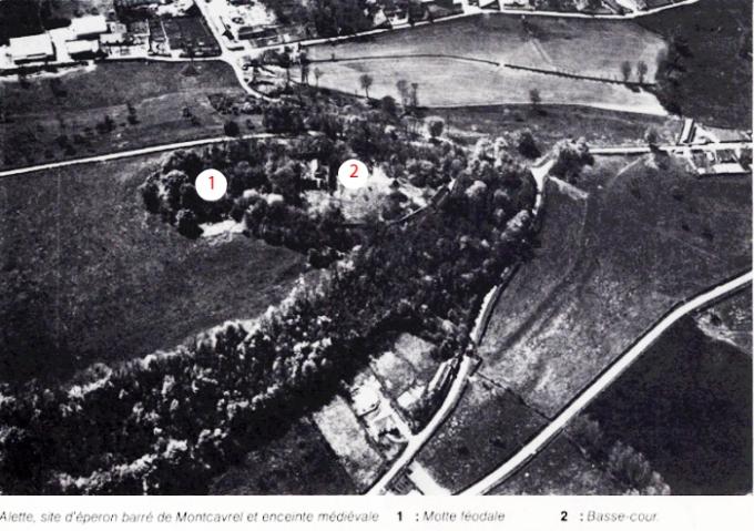 Château d'Alette motte et basse-cour 1915