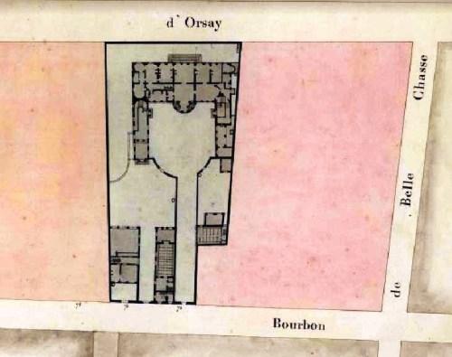 74-76 rue Bourbon Paris Cadastre 1810-1836.