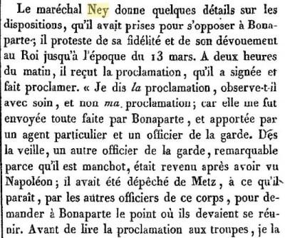 1er interrogatoire de Ney par De Caze.