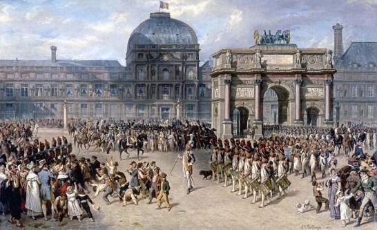 Jean Nicolas Senot au centre par H.Bellangé Musée du Louvre.