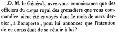 L.Friant témoin, 1ère question.