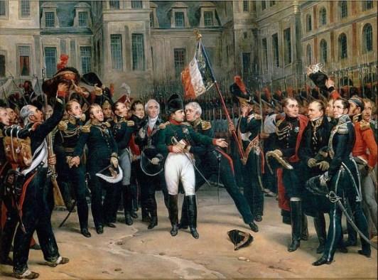 Fontainebleau, 20 avril 1814. Antoine Alphonse Montford, selon Horace Vernet.