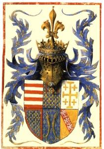 Armoiries du Duc d'Anjou.