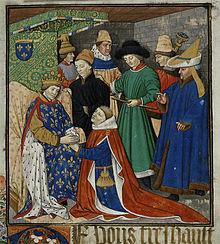 Aveu au roi René d'un vassal.
