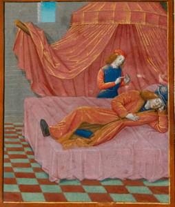 Enluminure du livre de René d'Anjou, du cœur d'amour épris.