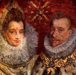 Isabelle et Albert d'Autriche, galerie de Comtes de Flandres, Eglise Notre-Dame de Courtrai dans la Gravenkapel.