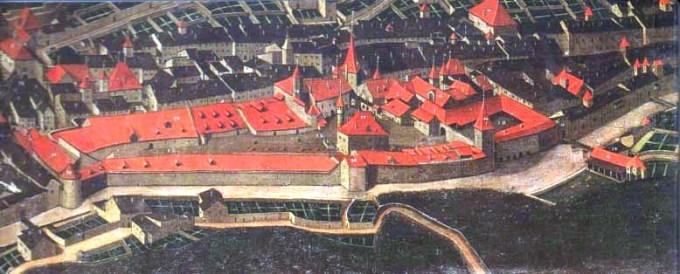 Détail du tableau de Nicolas Richard peint en Juin 1630, la Grande Saline.